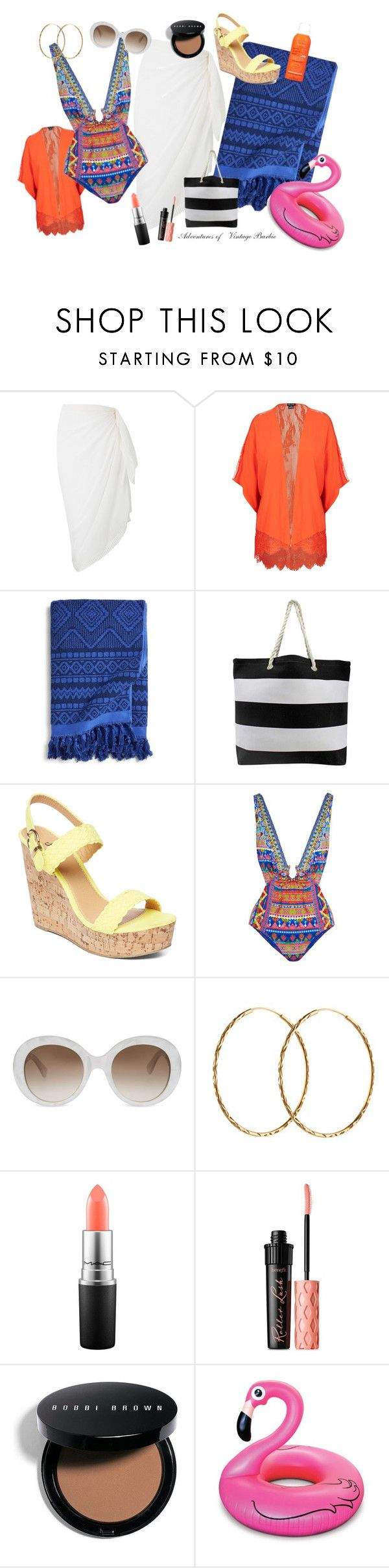 Poolside Fun by vintagebarbie17 on Polyvore featuring Phase Eight, Camilla, City Chic, Charles Albert, Pernille Corydon, Gucci, Bobbi Brown Cosmetics, MAC Cosmetics, Benefit and Avène