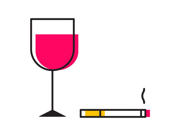 Wine and cigarette by Igor Levin