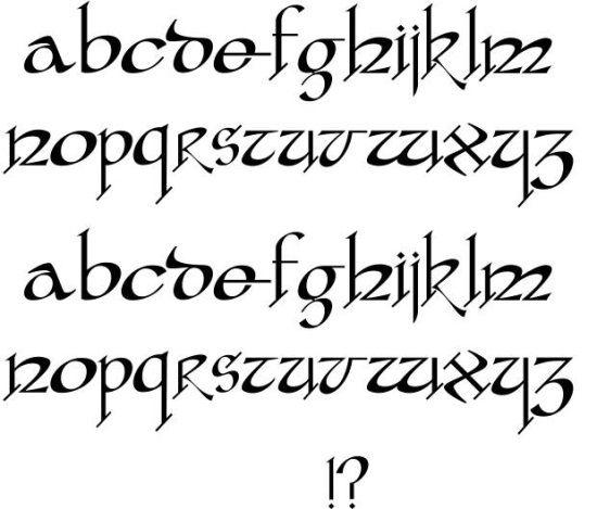 Fancy gothic font