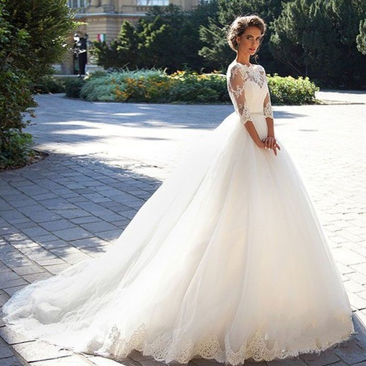 New white/ivory Lace Wedding dress Bridal Gown custom size 4 6 8 10 12 14 16 18 | Clothing, Shoes & Accessories, Wedding & Formal Occasion, Wedding Dresses | eBay!
