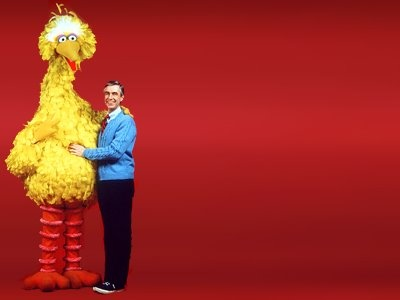 Big Bird and Mister Rogers
