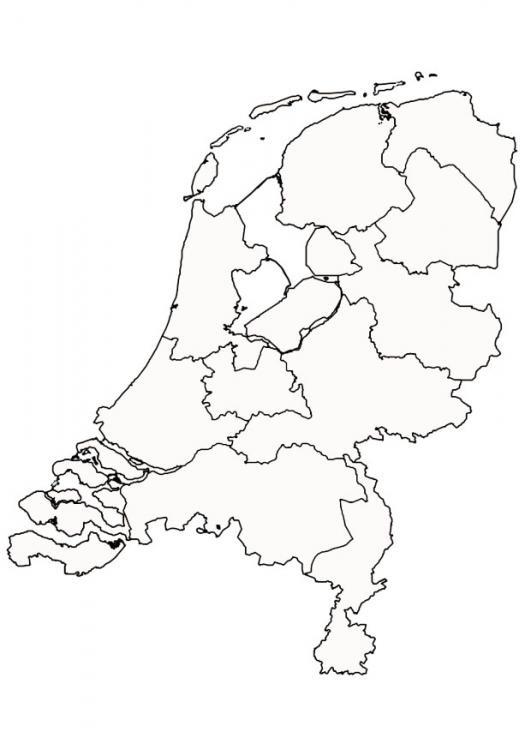 Kleurplaat van Nederland