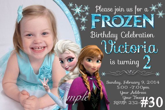 Disney Frozen Invitation with Photo / by LetsPartyShoppe on Etsy