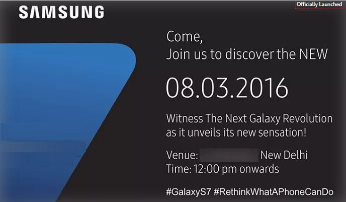 Samsung India has now finally sent out media invites for its Samsung Galaxy S7 and Galaxy S7 Edge Launch in India event that will take place on the 8th March in New Delhi. It is also expected that the company will start taking Samsung Galaxy S7 and Galaxy S7 Edge pre-orders starting on the 8th March as well. Our team will come up with all the latest news and reports about the Samsung Galaxy S7 and S7 Edge Price in India and more information about the Specs and Features visit dlbgadget,com