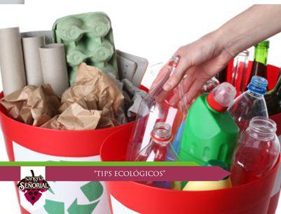 Te sugerimos separar los residuos inorgánicos en forma independiente, según su tipo.