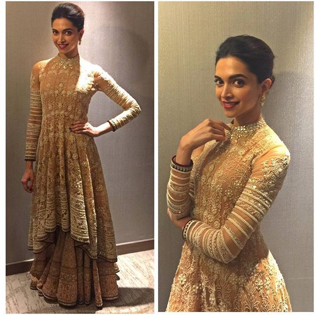 And the evening at Jaipur is dazzling just like @deepikapadukone as she promotes #BajiraoMastani in the city. Gorgeous isn't she?