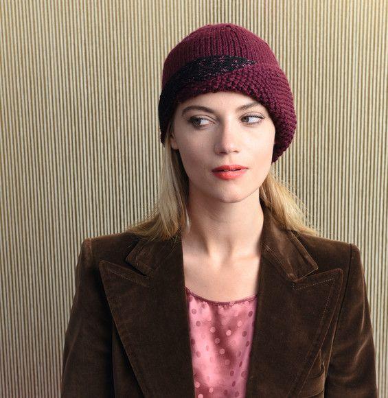 Voilà un bonnet qui a de l'allure ! Un bonnet cloche tricoté en Laine PARTNER 6…