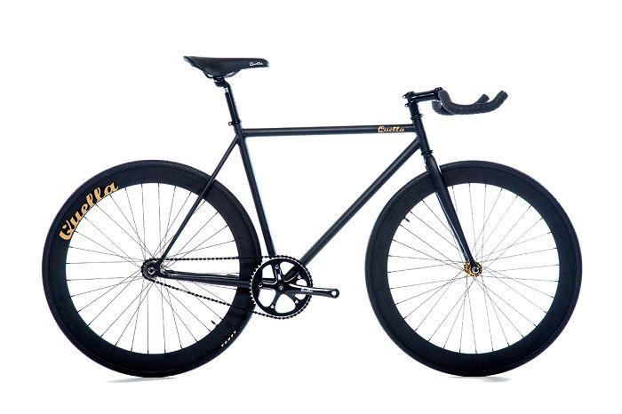 fixie bikes single speed  vélo urbain quella signature Matte Black pas cher et chic sur fixiedesign.com