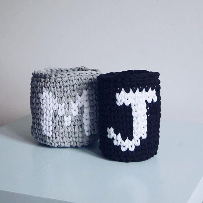 Crochet basket by Dwa Guziki | Kosze-zpagetti-typoMJ-DwaGuziki