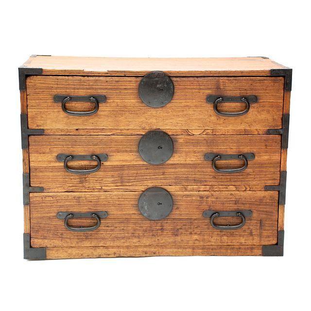 Antique Japanese Meiji Period Tansu Cabinet