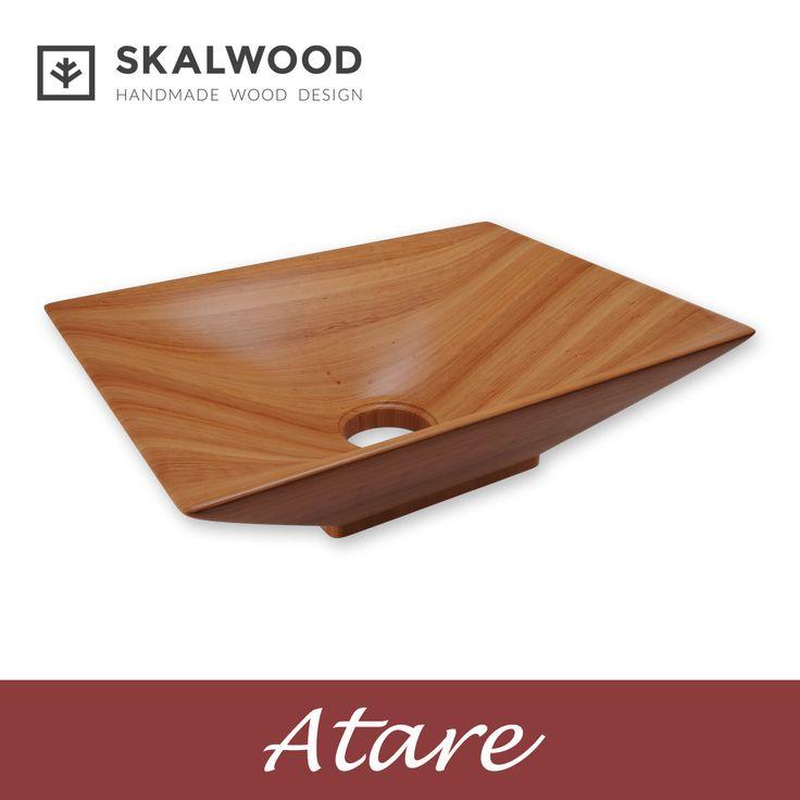 Drewniana umywalka SKALWOOD - ATARE   http://skalwood.com/produkty/umywalki/prostokatne/umywalka-drewniana-atare.html  #Skalwood #wood #design #bathroom #washbasin #drewno