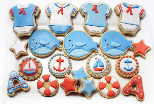 Ahoy It's a Boy Cookies