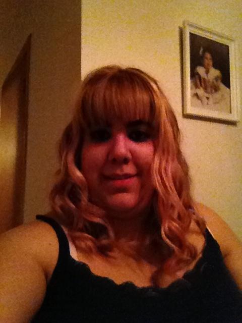Hair done. Blonde with pink peekaboos!  love my hairdresser ❤