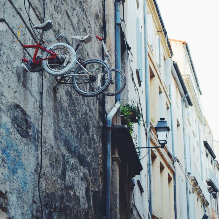 A street installation by an unknown artist #Montpellier #France #streetart #vscocam #nikon #discover #travel #bike #bmx #art #mystery