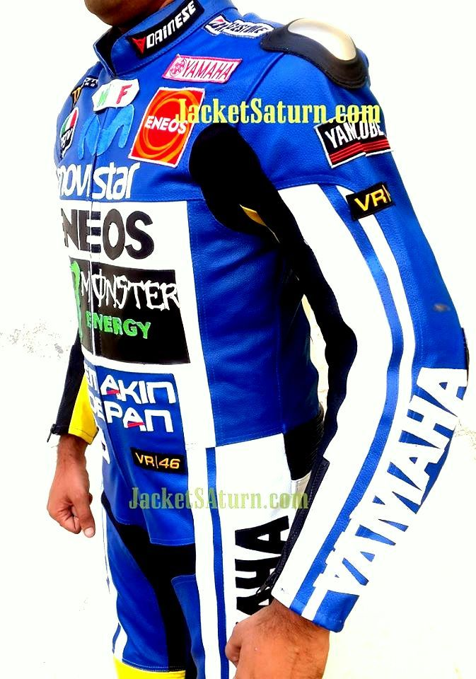 Yamaha Monster premium cowhide leather mens leather racers jacket  jacketsaturn.com