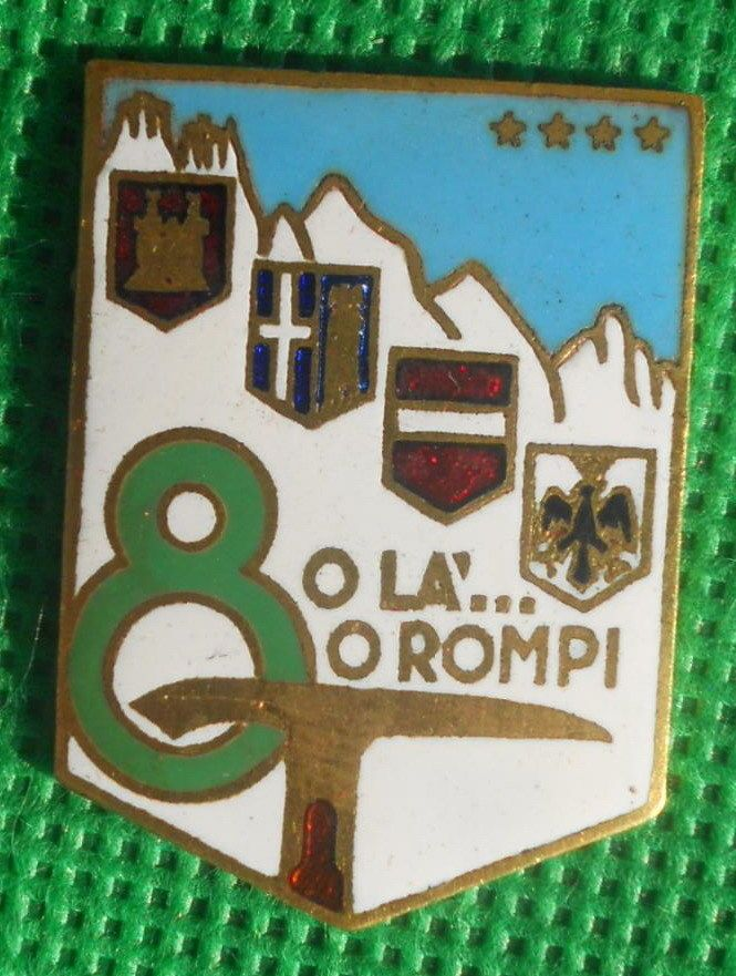 distintivo alpino distintivo fregio cappello alpini raduno ana julia medaglia
