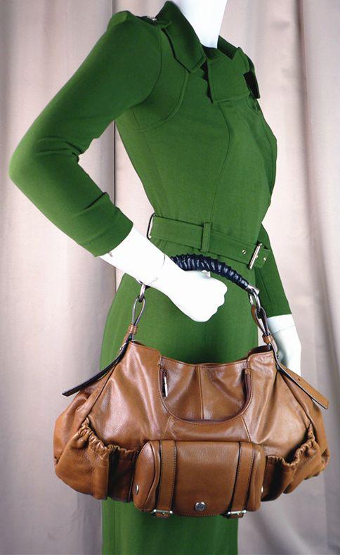 Yves-Saint-Laurent Mala mala Hobo Brown Color Leather Good ...