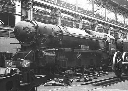 West Country Class 'Whimple' at Eastleigh Works