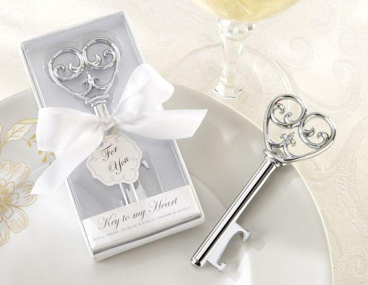 Kate Aspen Gray 'Simply Elegant' Key To My Heart Bottle Opener | Wayfair