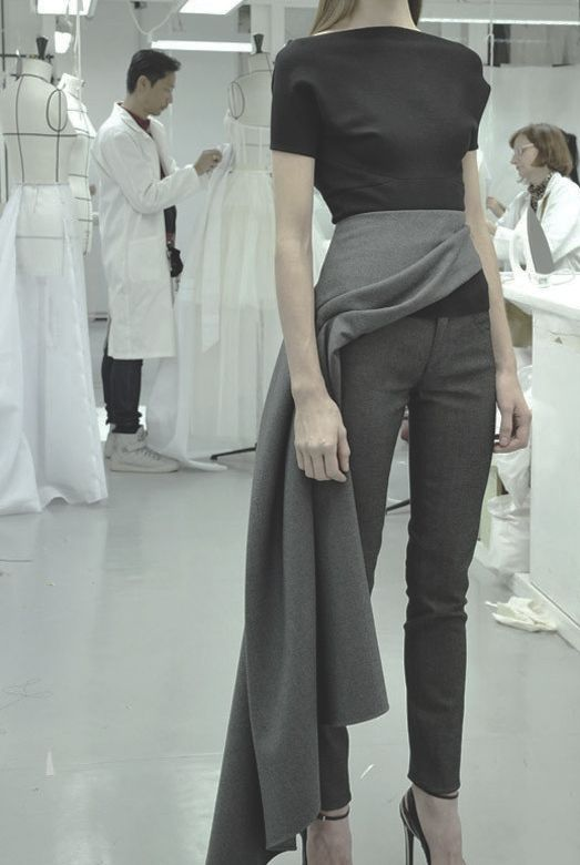 love this...want something like half a skirt/scarf, but more pant..and lotsa stiletto