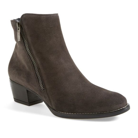"""Paul Green Allison Suede Boot Paul Green """"Allison"""" suede bootie- 2"""" heel, size zip closure, suede upper, gray, new w/o box Paul Green Shoes Ankle Boots & Booties"""