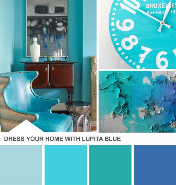 Tuesday Huesday: Dress Your Home With Lupita Blue (http://blog.hgtv.com/design/2014/04/29/tuesday-huesday-dress-your-home-with-lupita-blue/?soc=pinterest)Bathroom Colors, 2014 Colors, Favorite Colors, Colors Palettes, Hgtv, Blue Colors, Blog, Design, Colors Inspiration