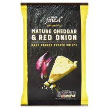 Tesco Finest Cheese And Onion Crisps 40G