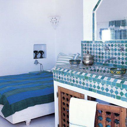 Les 118 meilleures images propos de carrelage damier sur - Carrelage salle de bain bleu ...