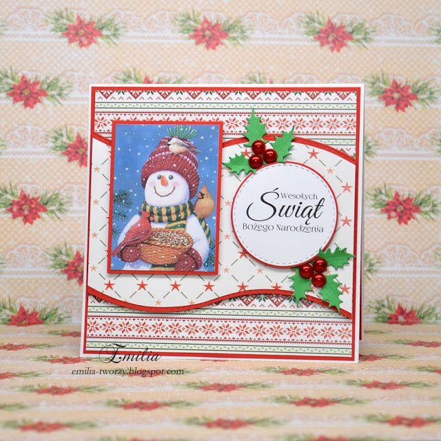 Emilia tworzy: Kartka na Boże Narodzenie/Christmas card