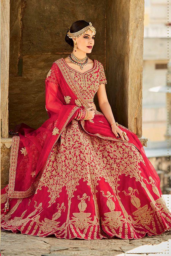 Red Color Mastani Silk Fabric Lehenga Choli - Hetal's Boutique