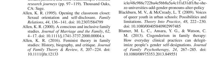 Teaching Undergraduates About LGBTQ Identities, Families, and Intersectionality, Family Relations   10.1111/fare.12224   DeepDyve