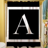 Found it at Wayfair - Classic Block Monogram Shower Curtain