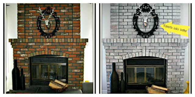 creating domestic bliss: White Wash Fireplace