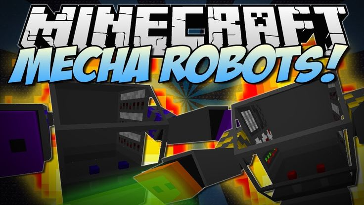 Minecraft | MECHA ROBOTS! (Insane Battle Robots!) | Mod Showcase