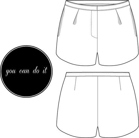 Free lined shorts pattern - will use lace!