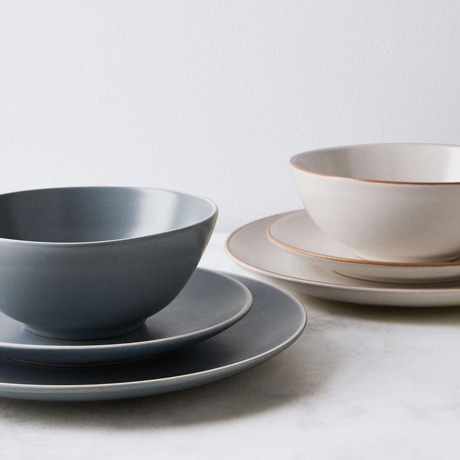 Classic Stoneware Dinnerware 12 Piece Set Affordable Best Dinnerware Set Everyday Use Classic Dinnerware Stoneware Dinnerware Dinnerware