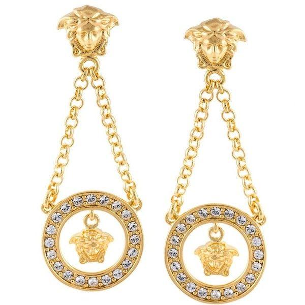Perfect Versace Greek Earrings In Gold  Lyst