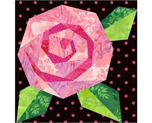 Paper pieced roses
