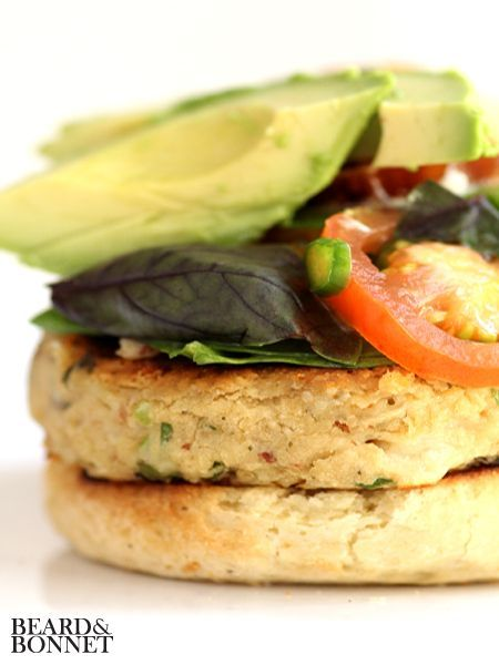Savory White Bean Burger {Beard and Bonnet}