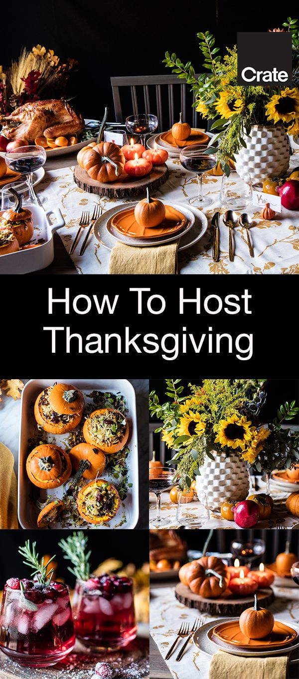 Ideas for Thanksgiving recipes and table decorations from Half Baked Harvest.