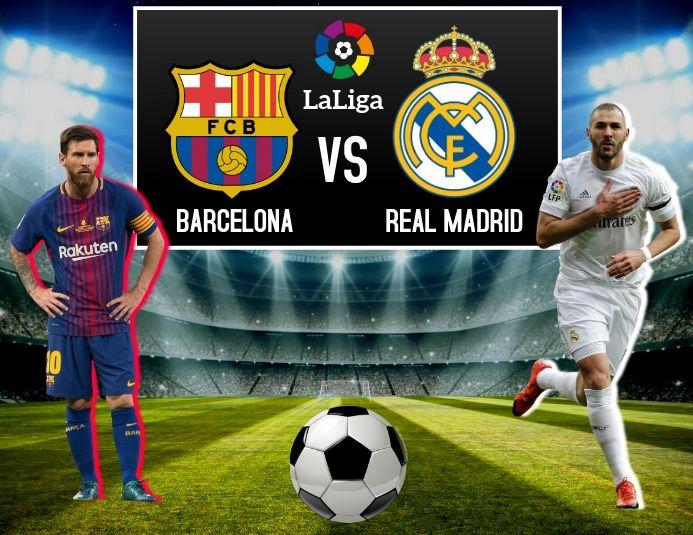 Barcelona Vs Real Madrid Football Poster Soccer Poster Football Template