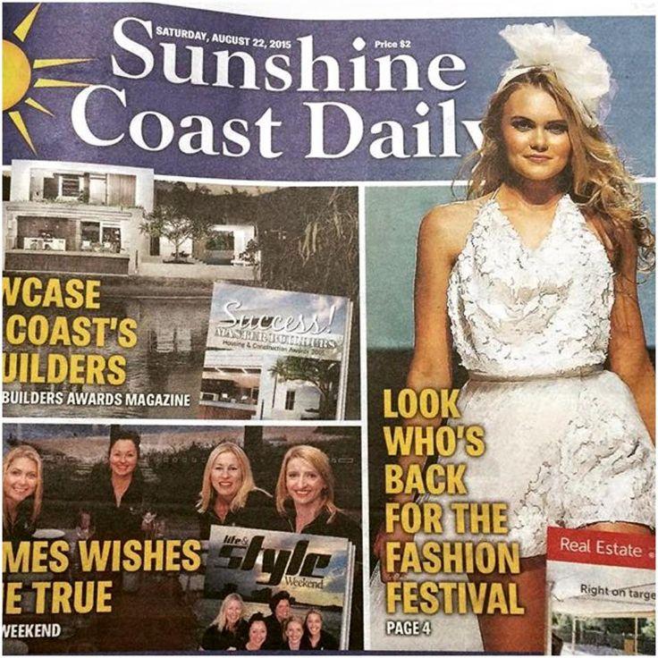 In the Media | Elizabeth de Varga Sunshine Coast Daily | cover | kitty | Playsuit