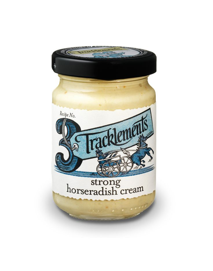 Tracklements Strong Horseradish Cream - voted one of Britain's top 50 foods in 2012!