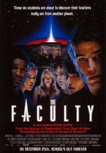 """The Faculty (1998) -- """"Would you blow up the White House; Independence Day style, or would you sneak in the back door?...""""  #AliensHaveLandedFestival"""