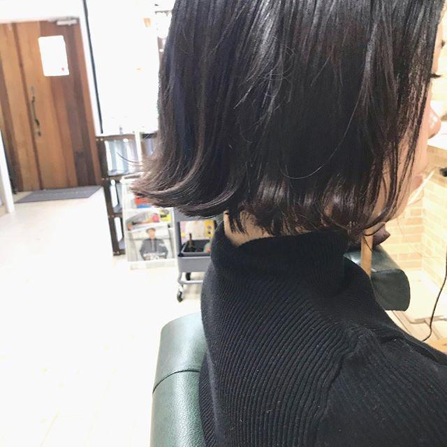 襟足ギリギリbob 収まりもよく外ハネにしても可愛いスタイルです いつもありがとうございます Souta Kawahara 美容室 Creer For Hair Kagoshima Hair Haircolor 鹿児島 鹿児島美容室 Bob Fashion Hair Turtle Neck