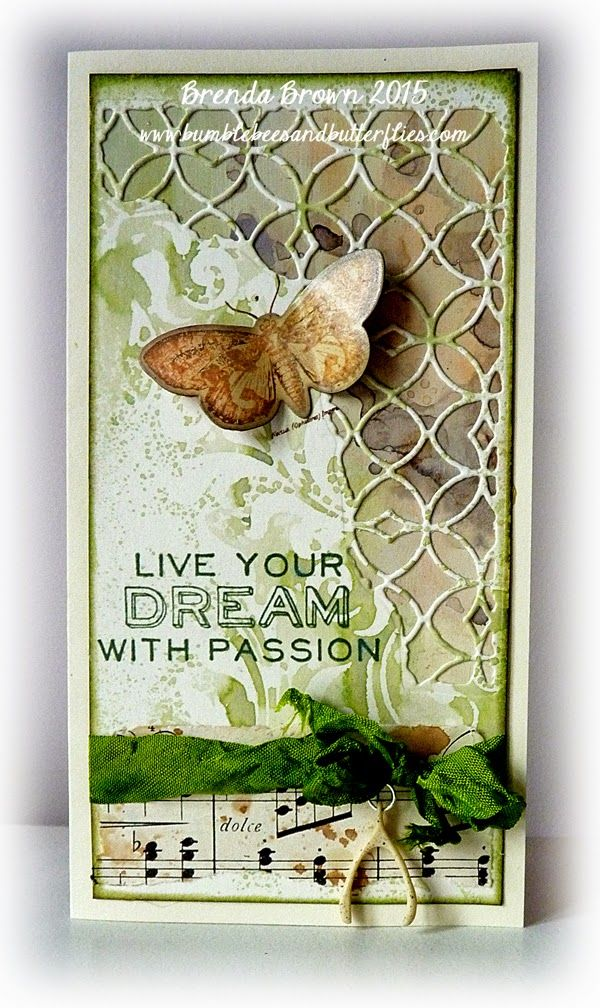 Bumblebees and Butterflies: Live Your Dream With Passion using Tim Holtz, Ranger, Sizzix and Stamper's Anonymous products; Feb 2015