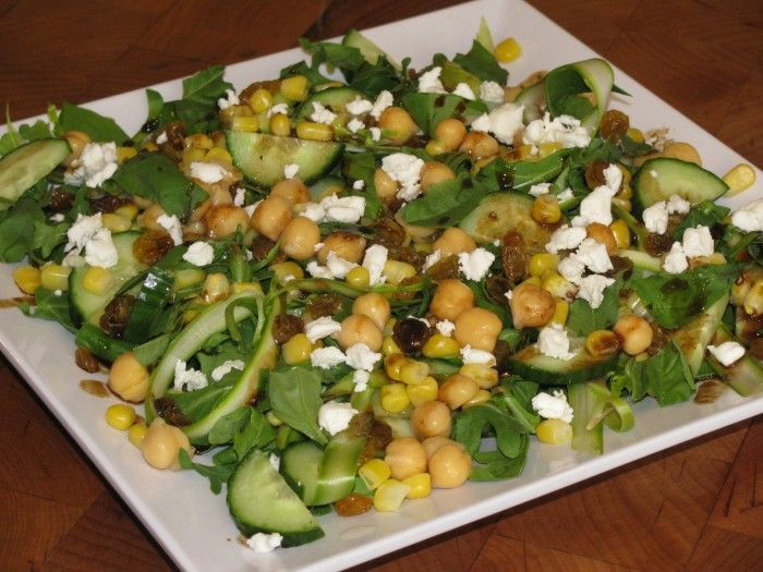 HUGE METABOLISM BOOSTING SALAD- Green and Yellow Salad with Honey Mustard Vinaigrette ONLY 329 CALORIES!