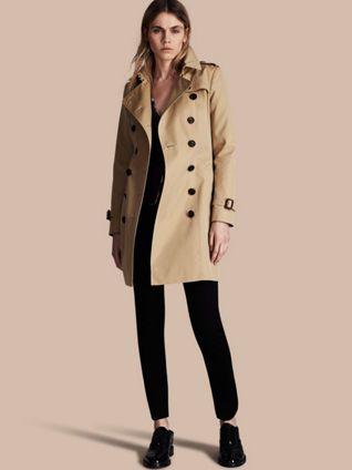 Trench coat Chelsea – Trench coat Heritage de longitud media Miel