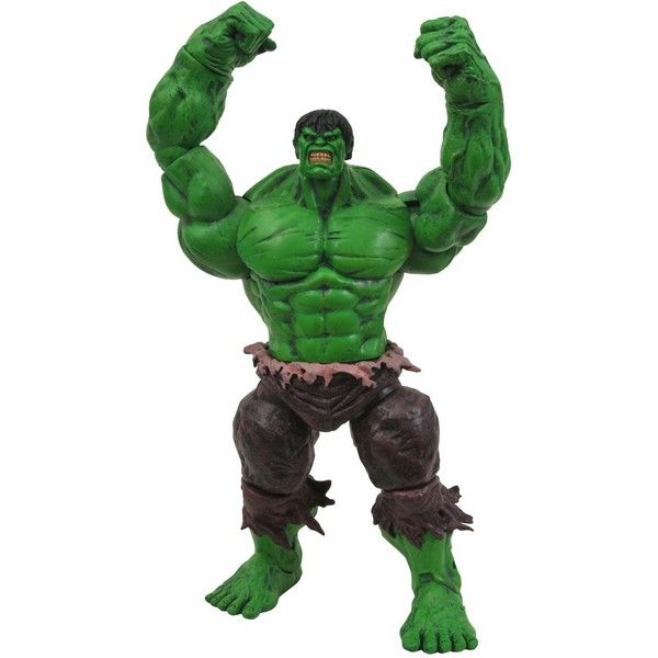 Diamond Select Toys Marvel Select Incredible Hulk Action Figure ($70) ❤ liked on Polyvore featuring toys