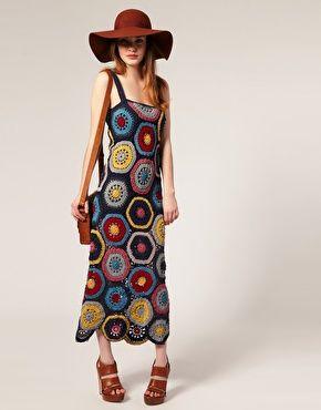 People Tree Crochet Maxi Dress